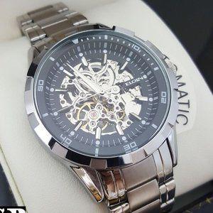 Men's Mechanical Skeleton Auto Luxury Chrono Watch
